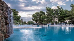 Poolbereich im Hotel Ivan in Sibenik