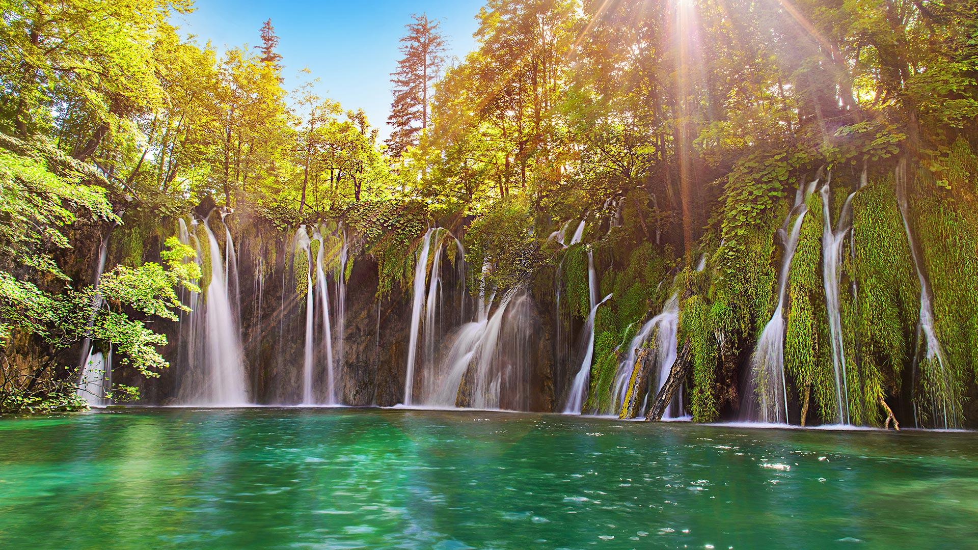 Wasserfälle bei den Plivice Seen