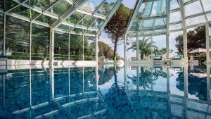 Poolbereich im Hotel royal in Opatija