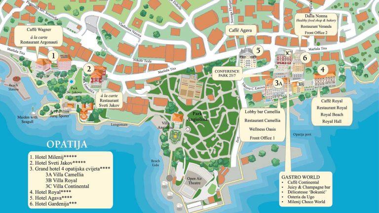 Amadria Park Opatija Map