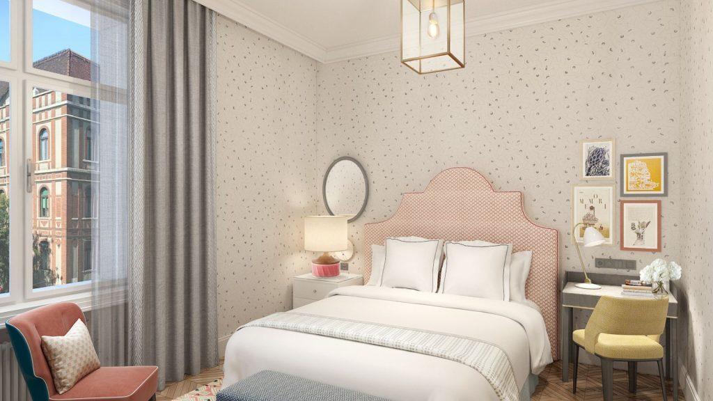 Dachgeschoss-Zimmer 20-23 m² City-Blick und kleinem Balkon_5
