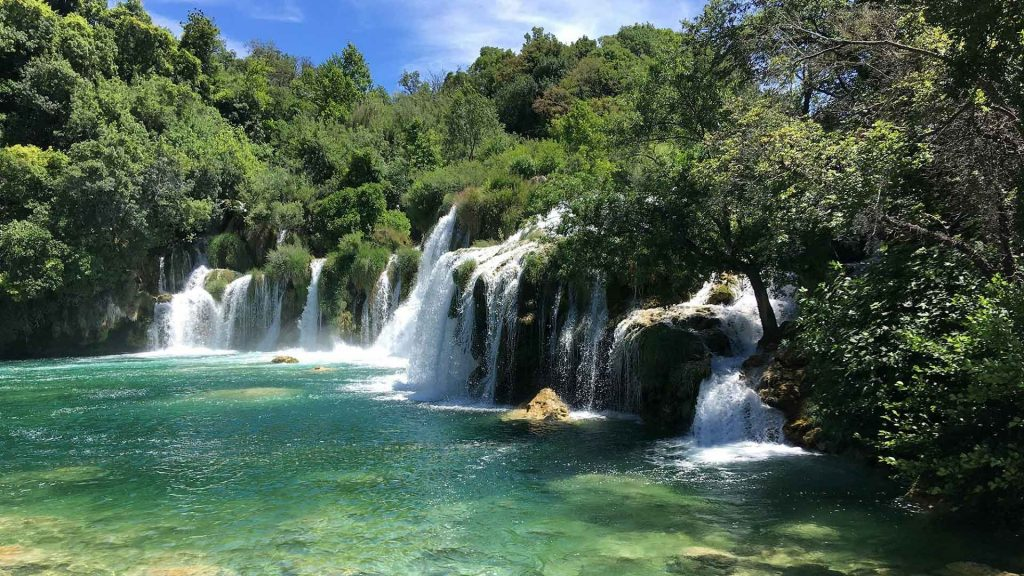Wasserfall in Sibenik