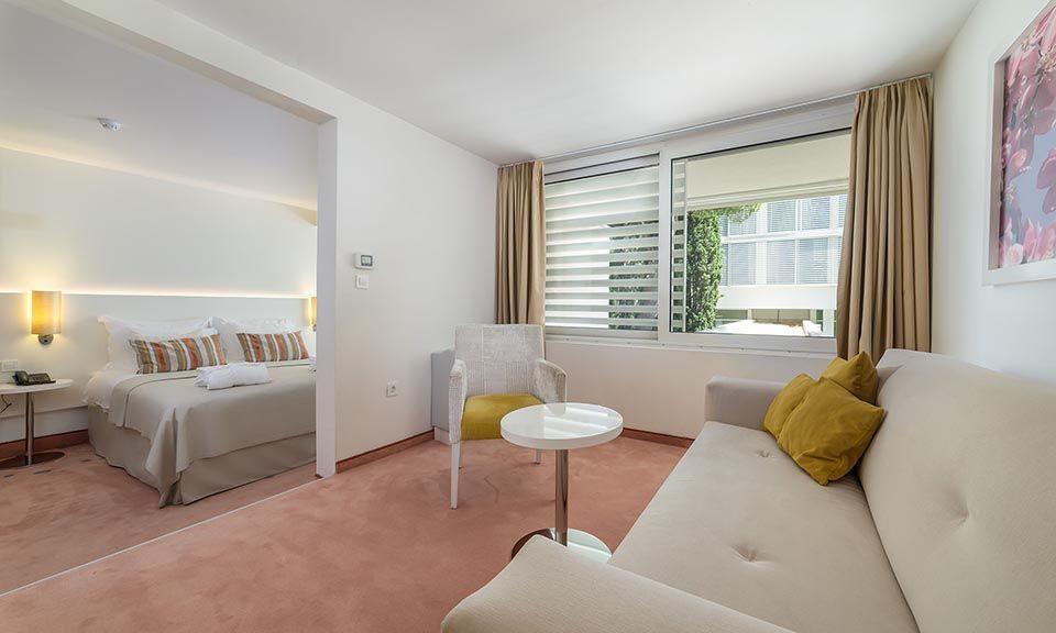 Dvokrevetna Veća (Large) soba 40m² Pogled Park s Francuskim Balkonom-1