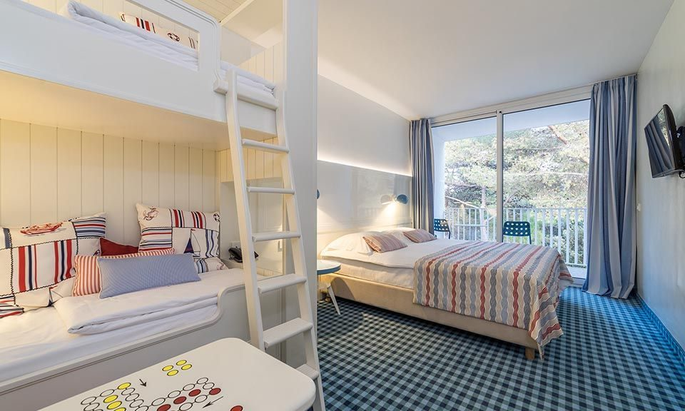 Obiteljska Veća (Large) Soba 30.50m² Morska Strana s Balkonom_5